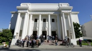 Home & Logo of the Internet Archive: a former Christian Science church in San Francisco